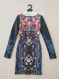 Reprice Brand New Clover Canyon long sleeve dress XS