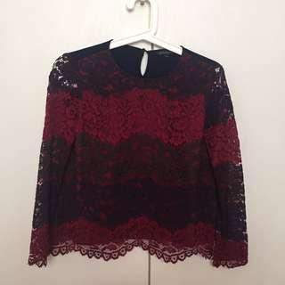 THE EXECUTIVE lace top