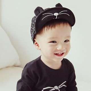 🚚 ✔️STOCK - KOREAN KITTY CAT HUSK BABY BOY BASEBALL CAP SUN HAT CHILDREN KIDS HEAD HAIR ACCESSORIES