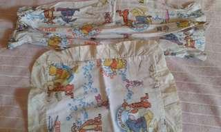 Baby bed fitted sheet and bolster,pillow cases