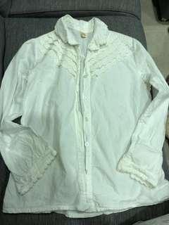 🚚 日系純棉白襯衫
