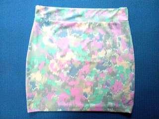 Printed pencil/casual skirt
