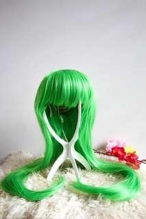 Green Long Wig