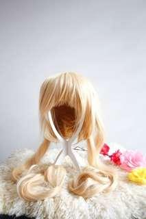 Platinum Blonde Twin Tailed Long Wig