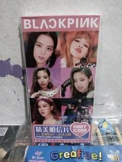 Black Pink Post Card