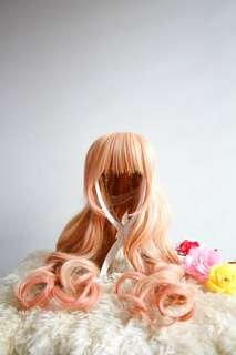 Sheryl Nome Macross Frontier Orange Pink Long Curly Wig