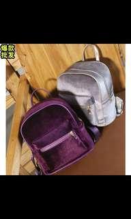 Royal Purple Velvet Backpack