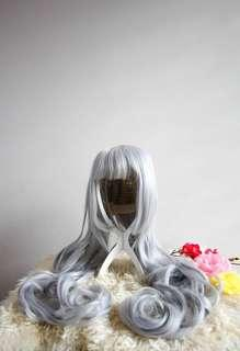 Sheryl Nome Macross Frontier Diamond Crevasse Silver Long Curly Wig