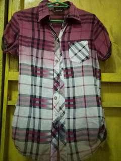 Maroon Checkerd Blouse
