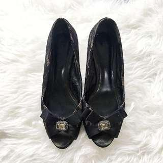 Authentic Charles and Keith Lace Shoes