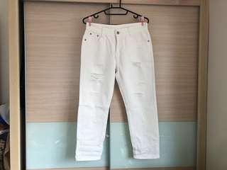 🚚 💥限時特賣➕全新白色直筒牛仔褲