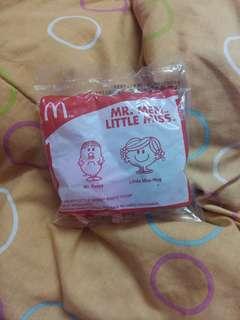 McDonald's Mr Men Little Miss series: Mr Fussy and Little Miss Hug #3x100