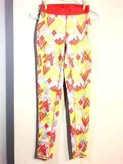 🚚 Forever21 橘紅圖騰緊身運動褲 • XS • 未下水只剪吊牌#九月女裝半價