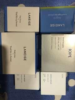 Iope laneige travel trial kits