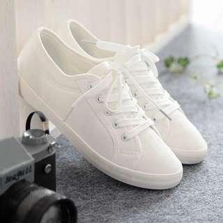 女用小白鞋 簡約帆布鞋 休閒鞋