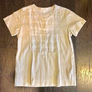 MUJI Tshirts  for kids /  check × beige