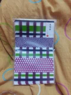 Japanese Pattern Clear Plastic Bag set #3x100