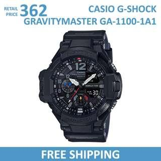 Casio G-Shock Gravitymaster GA1100-1A1 Men's Watch / GA-1100-1A1 / GA11001A1