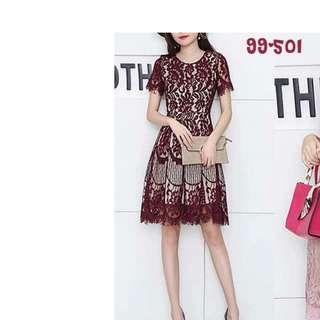 BNWT Premium Lace Midi Dress