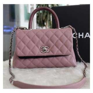 Authentic Chanel Small Coco Lizard Handle