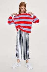 Authentic Zara Striped Knotted T-Shirt