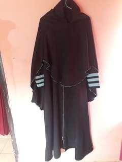 Set gamis + jilbab preloved
