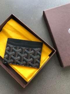 100% Authentic Goyard Black Card Holder