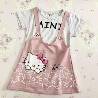 Preloved Mini Hello Kitty Pink Dress