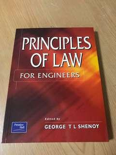 Principles of law for engineers