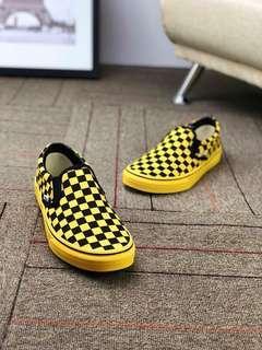 Vans Slip On Checkerboard  Yellow Black