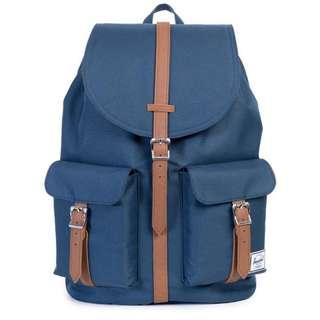 HERSCHEL SUPPLY CO. NAVY/TAN DAWSON BACKPACK 海軍藍色 x 啡色背囊背包書包袋
