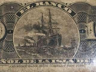 Old Cuban banknote