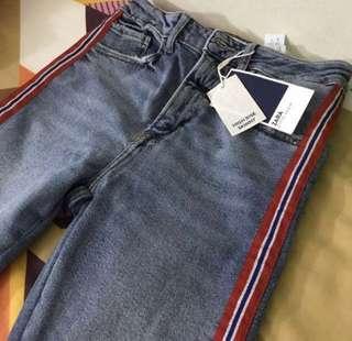 [BNWT] Zara Stripe Side Skinny Jeans