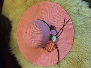 Pink Straw Hat