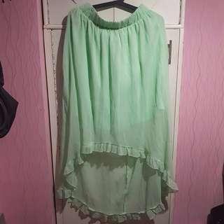 Green Mullet Skirt