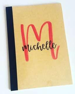 Customisable notebooks children's day childrens' kids kid student students children gift gifts present presents cheap affordable calligraphy personalised customised boys girls birthday goodie class teacher Teachers school corporate book books colleagues