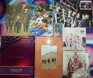 Clerance Wanna One Got7 EXO Seventeen NCT Album