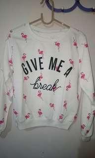 Crop sweater flaminggo