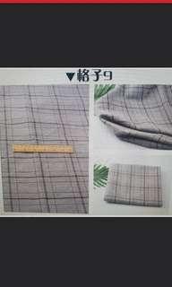 plaids fabric for diy clothing per meter