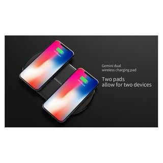 🚚 Gemini Dual Wireless Fast Charging Charger 10W High Speed