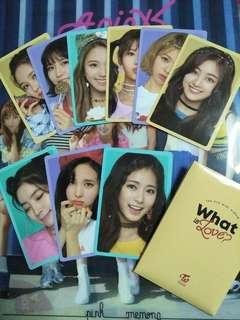 Twice What Is Love PO Benefits Photocard Set