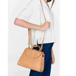 BNWT The Closet Lover TCL Harper Petite Satchel Caramel Sling in Brown
