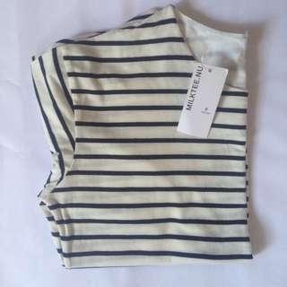 Striped short sleeve shirt #midsep50