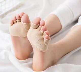 Instock Open Five Toes Socks Prevent Blister Absorb Sweat