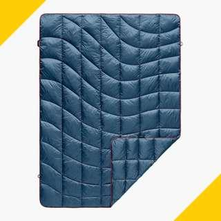 Puffy Down Blanket - T - Deepwater Blue