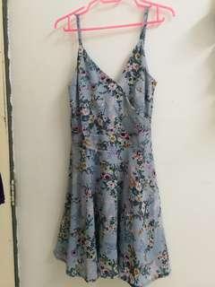 💕Deep V Floral Print Flare Dress