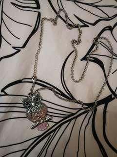 Pastel coloured Owl Chain