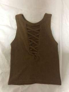 Knitted Criss Cross Top