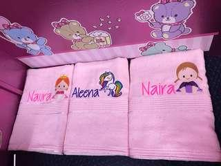 Personalised/name embroidery towel