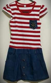 Dress stripe red (3 to 5yrs old)